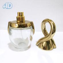 Garrafa cosmética de vidro transparente curvada especial do pulverizador