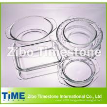 Crystal Clear Hot Sale Borosilicate Glass Baking Dish, Glass Roasting Dish (TM011501)