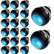 Тумблер 20 x синий 12 мм мини кратковременный вкл/выкл круглый кнопочный переключатель