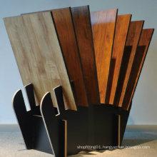 Wooden Tile Quartz Marble Showroom Flooring Display Stand