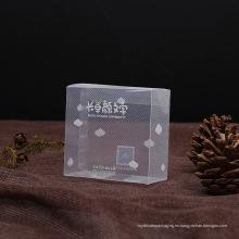caja clara de PVC plástico diagonal para regalo