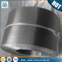 De calidad superior 1 2 5 10 15 micras de acero inoxidable reverso tela de malla de alambre holandés / filtro de correa de malla automática