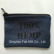 Tecido de cânhamo feito bolsa de mudança para promoção ou presente (HCP16)