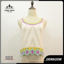 Frauen Mode Acryl Crochet Weste Pullover