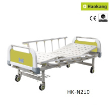 Lit médical manuel personnalisé pour deux hôpitaux (HK-N210)
