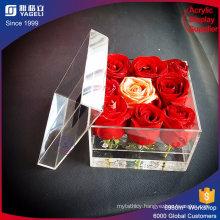 Custom Waterproof Acrylic Luxury Flower Packing Box