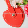 heart shaped luggage tags leather gift