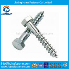 DIN571 Carbon Steel Hex Head Wood Screw with Zinc Plated