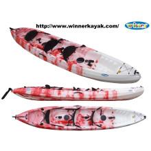 Trio grande caiaque plástico da pesca do sot
