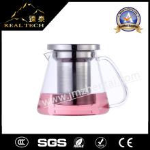 Hitzebeständige Glas Teekanne mit Edelstahl 304 Filter
