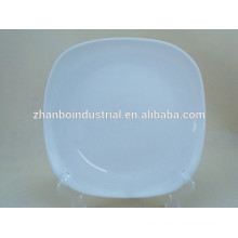 Platos cuadrados de la cena de la porcelana blanca del mejor precio