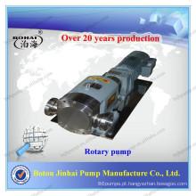 Bomba de lóbulo rotativo com caixa de engrenagens