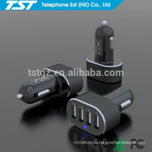 Beweglicher kundenspezifischer 4USB Auto-Aufladeeinheits-Adapter für iPhone