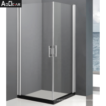 Aokeliay the company whole sale   square single stall swinging glass shower door