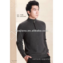 man's Cashmere sweater pullover with zipper