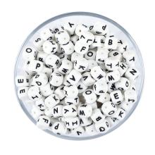 Conta de dentição de silicone AZ personalizada para bricolage