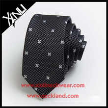 Dry-clean Only Cuello tejido Jacquard de poliéster Bordar corbata