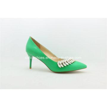 Attraktive Low Heel Comfort Frauen Kleider Schuh