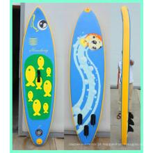 Prancha de surfe inflável com remos para crianças
