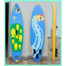 Надувная доска для серфинга с веслами для детей