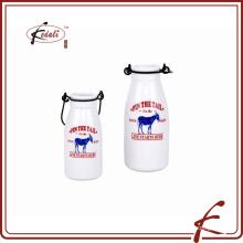 240 мл новая прочная фарфоровая молочная бутылка с декальком