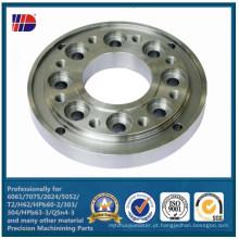 Flange de aço inoxidável de SUS304 / SUS 316 por fazer à máquina do CNC