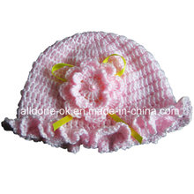 OEM ODM ручной вязание крючком цветок Hat с кружевом цветок