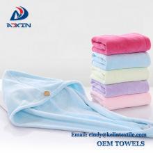 Sanding microfiber hair drying towel turban towels wrap
