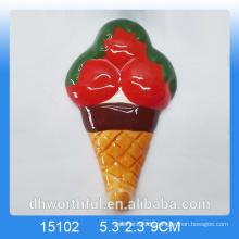 2016 Großhandel Eiscreme Keramik Kühlschrank Magnet
