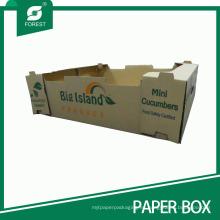 Caja de papel acanalada de alta calidad de la fruta y verdura de la venta superior