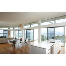 Повседневные виллы Легкие тонированные стекла Алюминиевые раздвижные окна и двери
