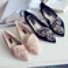China Wholesale Senhoras Fancy Calçado Moda Bordado Flat Casual Shoes