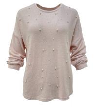 casual fashion beading long sleeve t-shirt sweater shirt