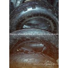 Roda de borracha pneumática inflável do ar 400-8 para o carrinho de mão