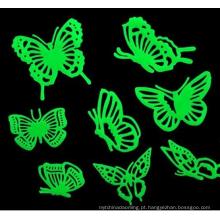 Auditoria de alta moda Natal 3D Eco-friendly decorativo removível brilho no escuro estrela adesivos de parede