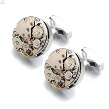 Bijoux uniques de bouton de cuivre de cuivre d'or, montrez le bouton de manchette de mouvement Tourbillon