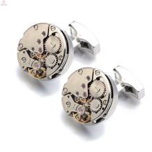 Unique Rose Gold Copper Cufflink Jewelry, Watch Movement Tourbillon Cufflink