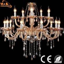Figured Hotel Hall LED Crystal Pendant Light Candle Modern Chandeliers