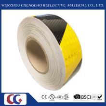 Fita de advertência de segurança reflexivo preto e amarelo (C3500-S)