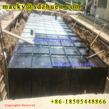 China high quality 100M3 HDG Underground Steel Water Tank for fire fighting