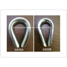 Rigging Heavy Duty DIN 6899b Carbon Steel/Stainless Steel Wire Rope Thimble