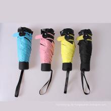 A17 kleiner Regenschirm Taschenschirm kompakte Regenschirm