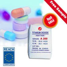 Anatase de grado de la medicina Dióxido de titanio (A200)