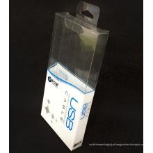 Impressão personalizada de plástico dobrável caixa de embalagem de PVC (pacote de presente)