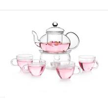 Juego de té de té de vidrio con taza de beber
