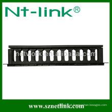 1U gestão de bandeja de cabo de plástico