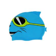 Gorro de baño de dibujos animados coloridos niños profesionales con logotipo personalizado