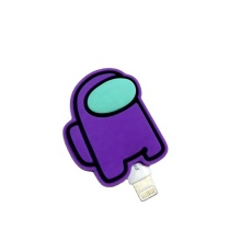 Protecteur de câble de fil de chargeur de silicone de conception de bande dessinée personnalisée