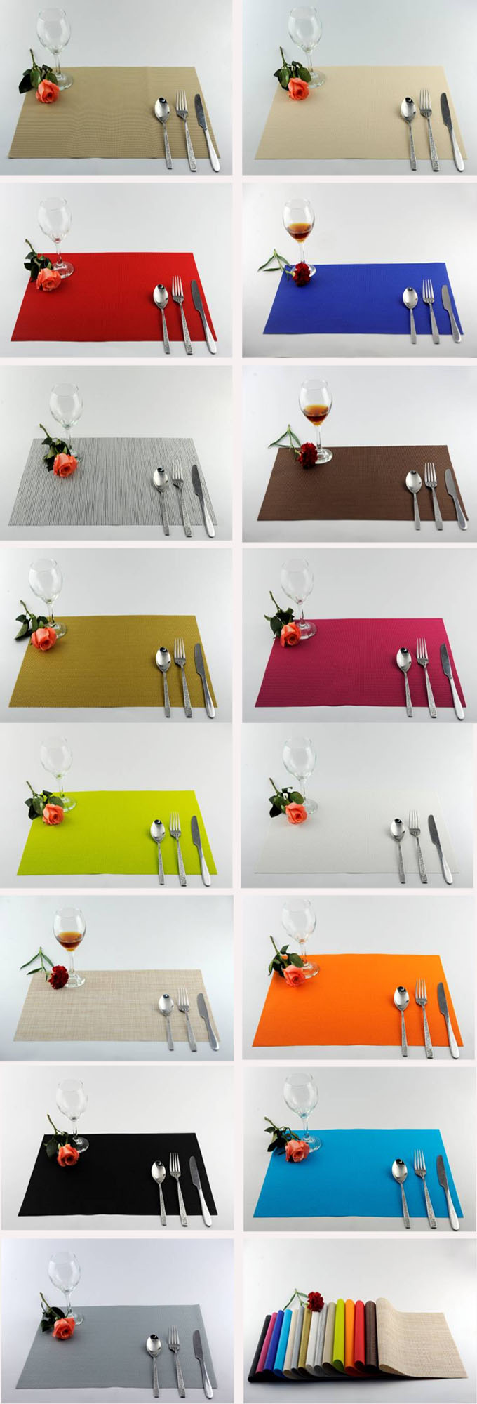 Pure color series of household business dining mat decoration