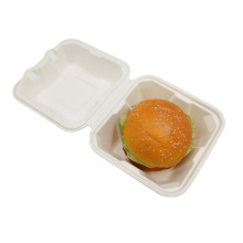 Disposable Eco Friendly Sugarcane Fiber Take-Out Box Bagasse Food Container For Hamburger